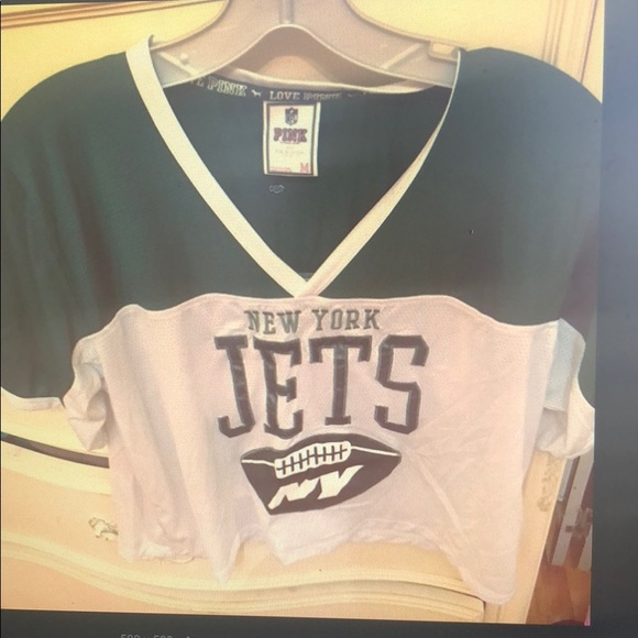 4714090e PINK Victoria's Secret Tops | Pink New York Jets Jersey Top | Poshmark